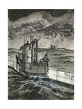 One Stormy Night a German Submarine Landed Casement on the Irish Coast Giclee Print by Gerry Embleton