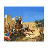 King Hammurabi Goes to War, His Chariot Drawn by Asses of a Particularly Tough Breed Giclee Print by Roger Payne