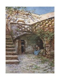 Yard at Monte San Giuliano Giclee Print by Alberto Pisa