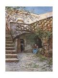 Yard at Monte San Giuliano Giclee Print by Alberto Pisa