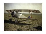 Nieuport Biplane, Aisne, France, 1917 Giclee Print by Fernand Cuville