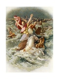The Egyptians Perish in the Red Sea Giclee Print by John Lawson