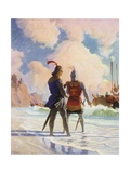 Bruce on the Beach Giclee Print by Newell Convers Wyeth
