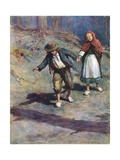 They Found their Way Home Quite Easily, for the Moon Shone Brightly on the Pebbles Which Hansel… Giclee Print by William Henry Margetson