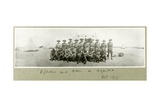 Officers and Ncos in N.Z.M.A.A., October 1917 Giclee Print by Capt. Arthur Rhodes