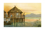West Aryan Barbarism: Lake Dwelling of Switzerland Giclee Print by  North American