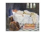 Her Eyes Were Closed, and Her Hair, Touched by the Sunshine, Lay Like Threa Giclee Print by William Henry Margetson