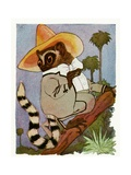 "The Lemur, 1913 Giclee Print by M.T. ""Penny"" Ross"