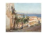 Street in Cefalu Giclee Print by Alberto Pisa