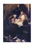 Young Boy Approaching Napoleon with Critical Military Intelligence Giclee Print by Cyrus Cuneo