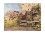 Garden at Monte San Giuliano Giclee Print by Alberto Pisa