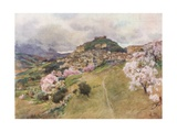 Girgenti from the West Giclee Print by Alberto Pisa