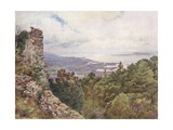 Coast Near Trapani and Island of Aigousa, Scene of the Roman Naval Victory, 242 B.C. Giclee Print by Alberto Pisa