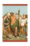 Hercules and Omphale, from a Pompeian Painting Giclee Print by Etienne Ronjat