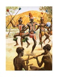 Aborigine Dance Giclee Print by Robert Brook