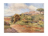 Girgenti from the Garden of S. Nicola Giclee Print by Alberto Pisa