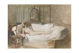 Nude on a Sofa, 1980 Giclee Print by John Ward