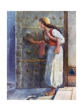 Shaking with Fear She Dropped the Magic Key on the Floor Giclee Print by William Henry Margetson