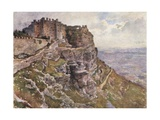 Castle of Monte San Giuliano Giclee Print by Alberto Pisa
