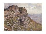 Castle of Monte San Giuliano Giclee Print by Alberto Pisa