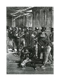 The Assassination of Spencer Perceval, Illustration from 'Cassell's Illustrated History of England' Giclee Print by Walter Stanley Paget