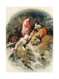 Jonah Is Cast into the Sea Giclee Print by John Lawson