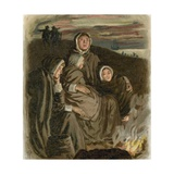 Women of the Pilgrim Fathers Giclee Print by  English School