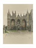 Peterborough Cathedral Giclee Print by Cecil Charles Windsor Aldin