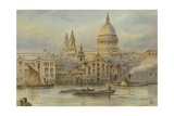 St. Paul's, from the Thames Giclee Print by  English School