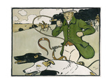 Old English Sports and Games: Coursing, 1901 Giclee Print by Cecil Charles Windsor Aldin