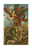 St Michael Vanquishing Satan Giclee Print by  Raphael
