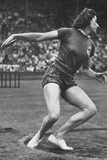Micheline Ostermeyer on Her Way to Winning the Gold Medal for the Discus Throw at the 1948 London… Photographic Print