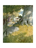 Robin Hood and His Companions Rescue Will Stutely Giclée-tryk af Newell Convers Wyeth