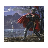 Excalibur Being Returned to the Lake from Whence it Came Giclee Print by Kenneth John Petts