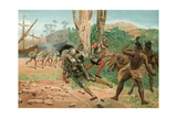 Death of Magellan in the Philippines Giclee Print by Josep or Jose Planella Coromina