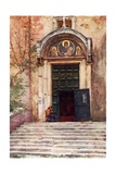 Entrance to Ara Coeli from the Forum Giclee Print by Alberto Pisa