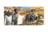 Howard Carter Searching for the Tomb of Tutankhamen Giclee Print by Ferdinando Tacconi