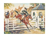 Highwayman Being Chased by the Bow Street Runners Giclee Print by Derek Charles Eyles