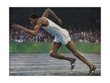 Arthur Wint of Jamaica Winning the Gold Medal for the 400m Race at the 1948 London Olympic Games Giclee Print