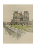 Wells Cathedral Giclee Print by Cecil Charles Windsor Aldin