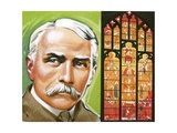 Edward Elgar, and the Window in Worcester Cathedral Based on His Dream of Gerontius Giclee Print by Angus Mcbride
