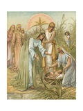 Moses in the Bullrushes Giclee Print by John Lawson