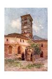 Garden of the Monastery of Santa Scholastica, Subiaco Giclee Print by Alberto Pisa