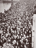 Crowds Waiting for Access to Westminster Hall, During the Lying in State of George V, 1936 Photographic Print by  English Photographer
