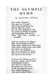 'Non Nobis, Domine! Not Unto Us, O Lord', Olympic Hymn Set to Music by Roger Quilter for the… Giclee Print by Joseph Rudyard Kipling