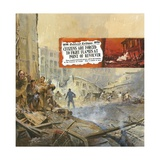 The San Francisco Earthquake Giclee Print by Neville Dear