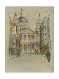 St. Paul's Cathedral Giclee Print by Cecil Charles Windsor Aldin