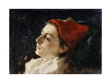 Head of a Woman in a Red Cap Giclee Print by Sarah Paxton Ball Dodson