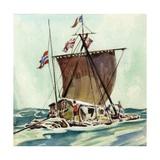 The Kon-Tiki Giclee Print by  English School