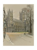 Canterbury Cathedral Giclee Print by Cecil Charles Windsor Aldin